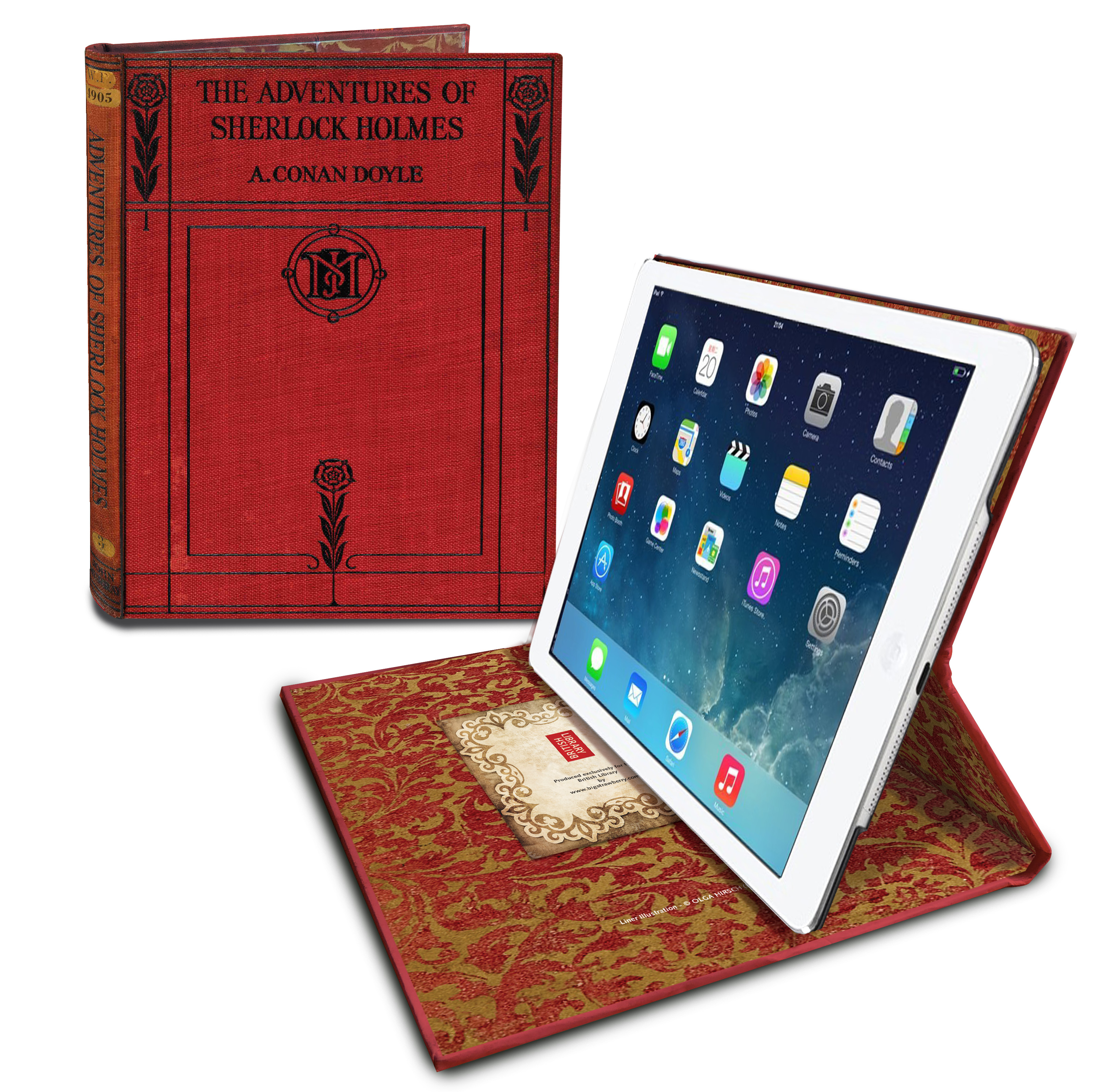 Sherlock Holmes Tablet Case - £35.00, www.bl.uk:shop