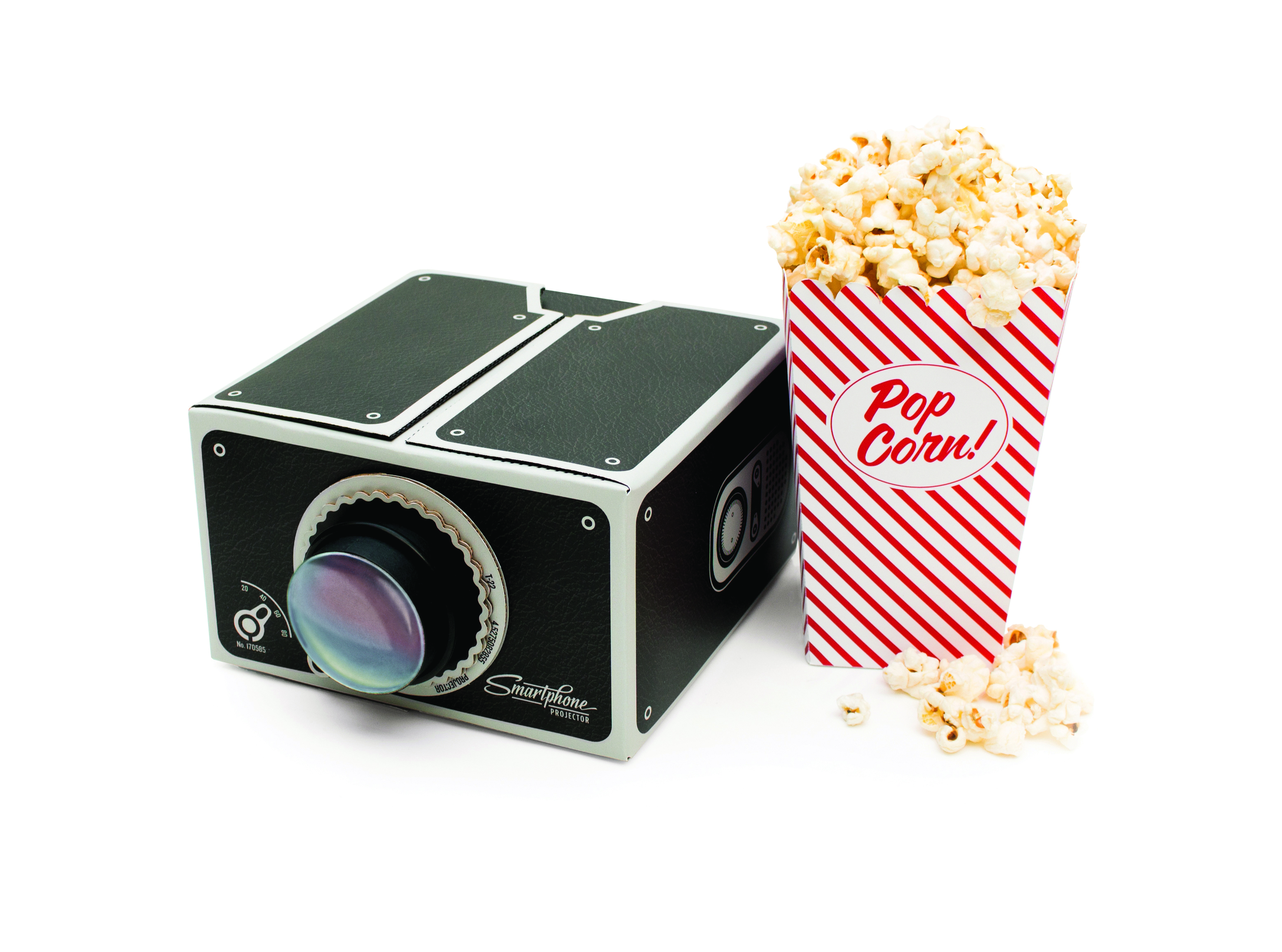 Smartphone Projector with popcorn 1