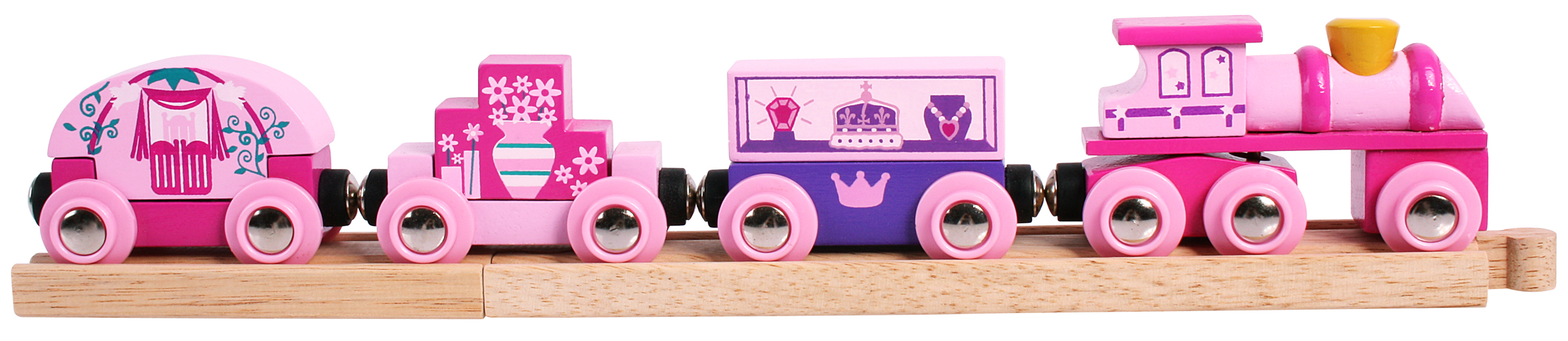 Bigjigs Princess Train, £!4, nrmshop.co.uk