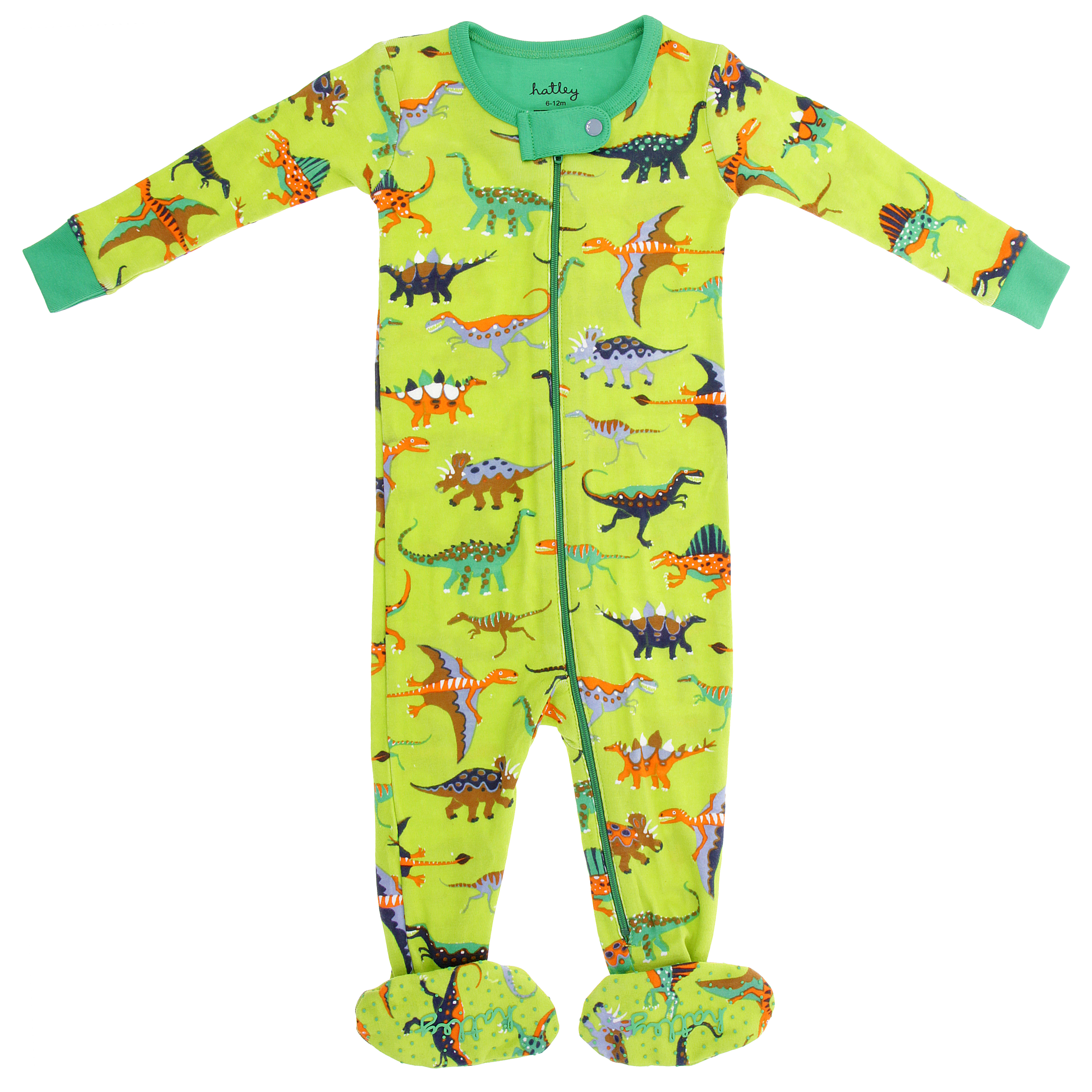 F16076-Baby-Onesie-Dino-Lime-Natural-History-Museum