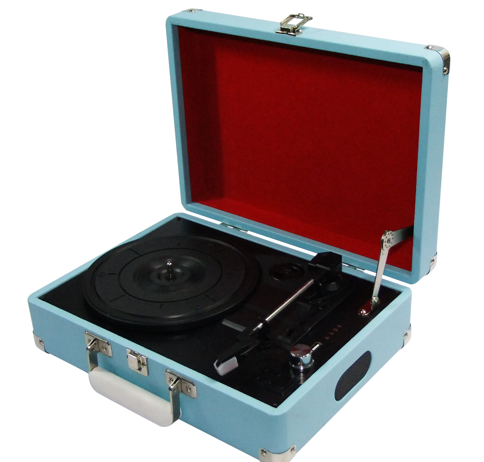 Record players - sky blue, www.iwmshop.org.uk