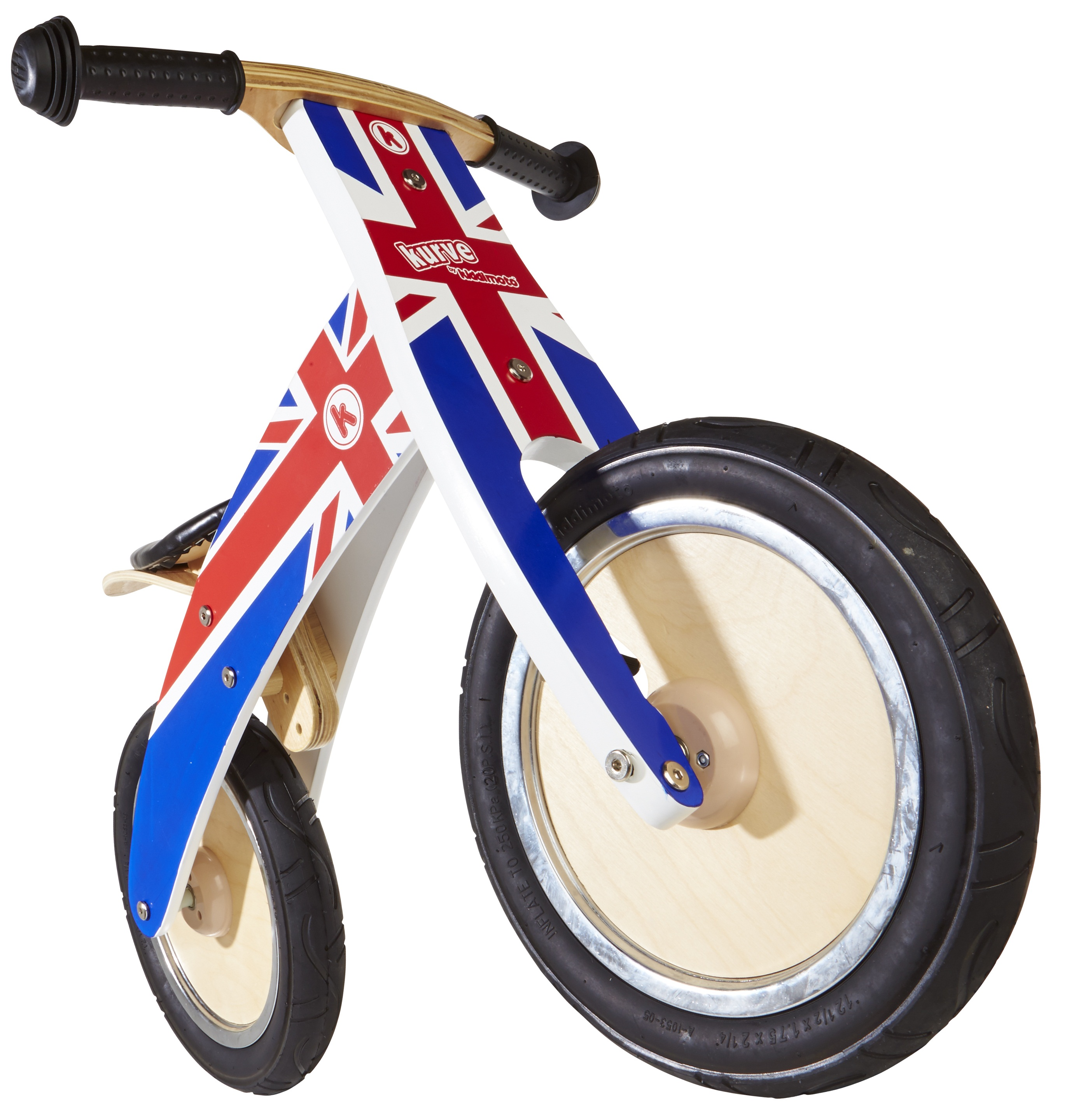 Union Jack Kurve front www.kiddimoto.co.uk
