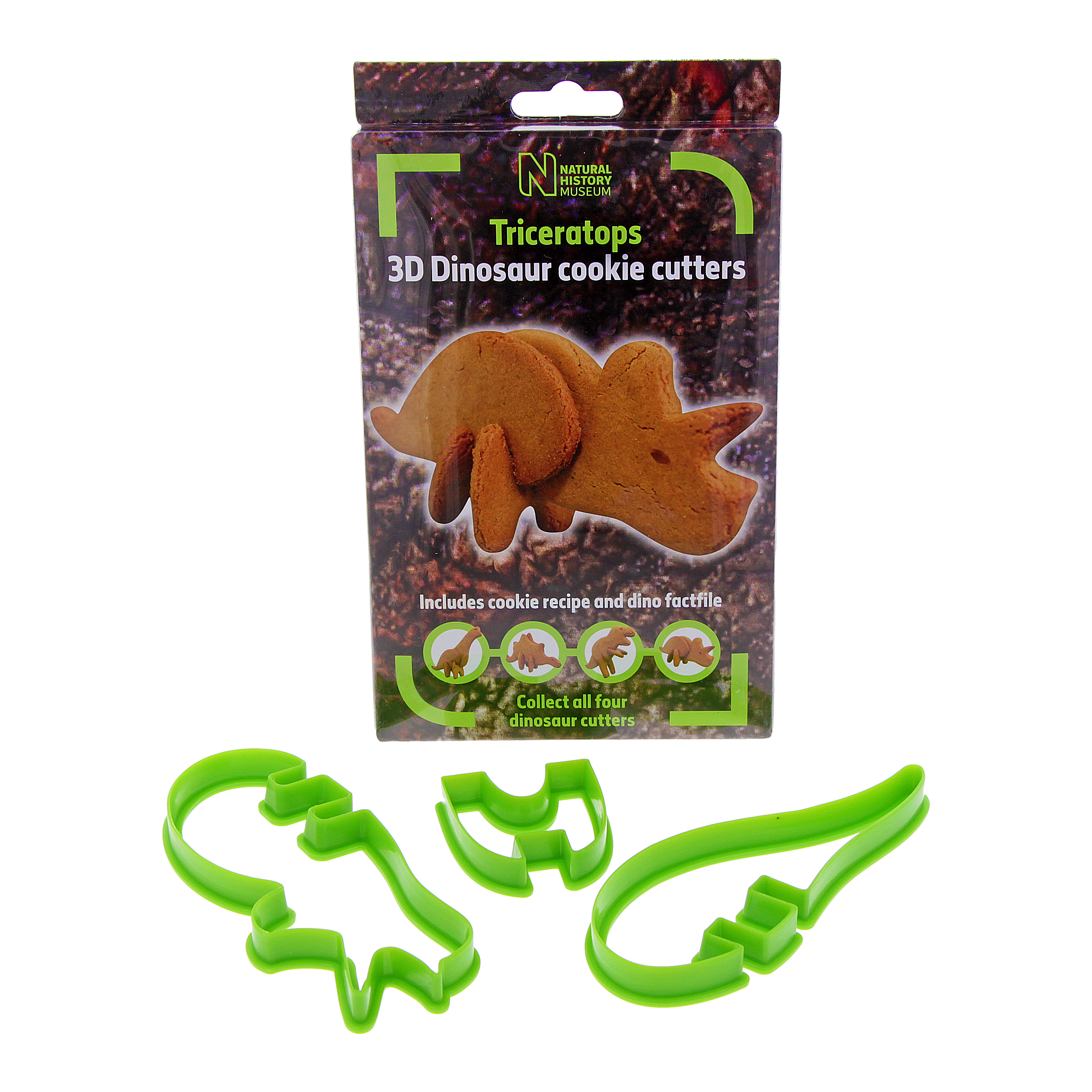 3D Dinosaur Cookie Cutter Triceratops Natural History Museum