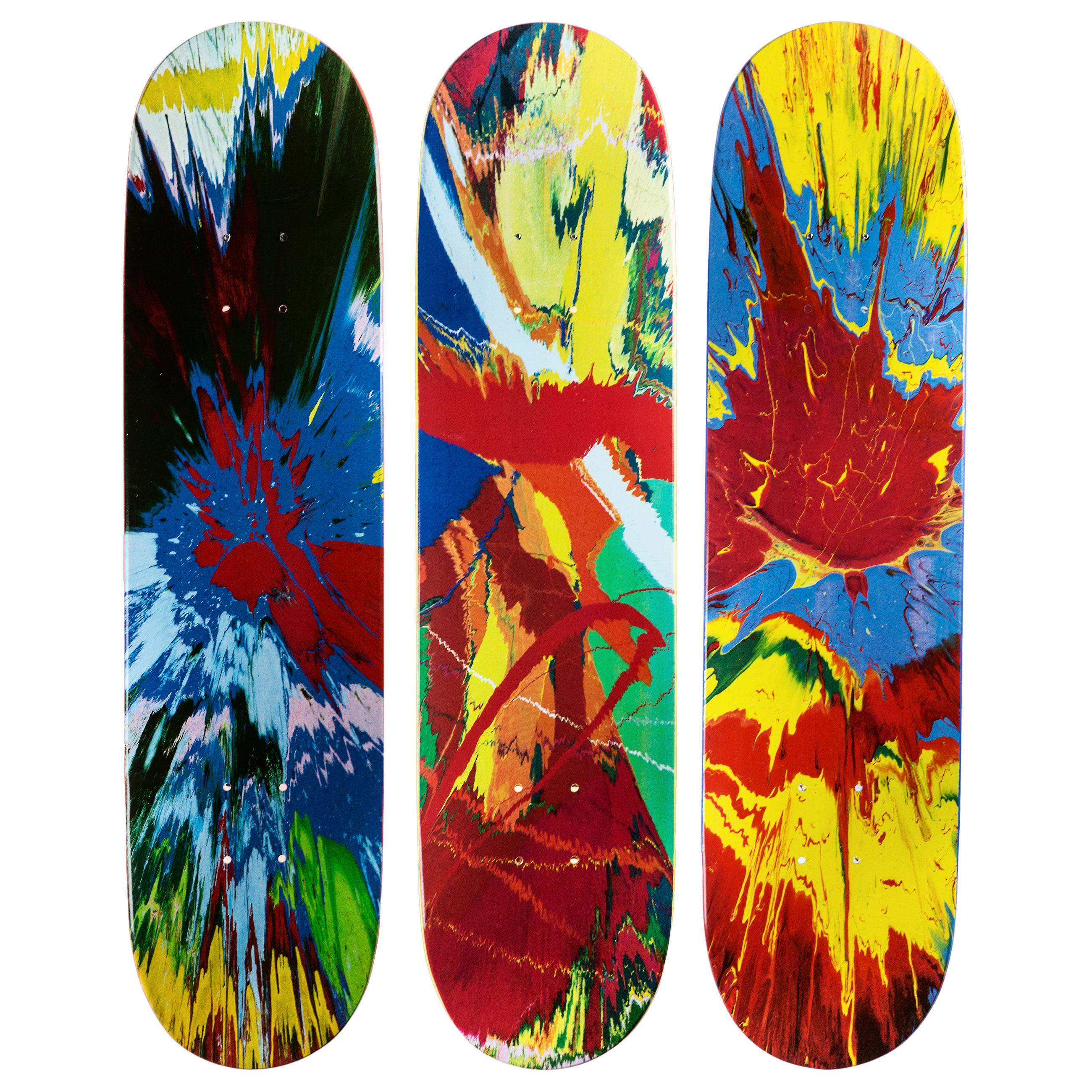 Hirst Spin Skateboard Triptych £2400 shop.tate.org.uk