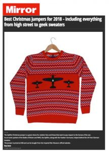 376ade0e4e45 Head over to the Mirror Online for a list of The Best Christmas Jumpers of  2018 featuring a stylish Spitfire jumper from Imperial War Museums shop!